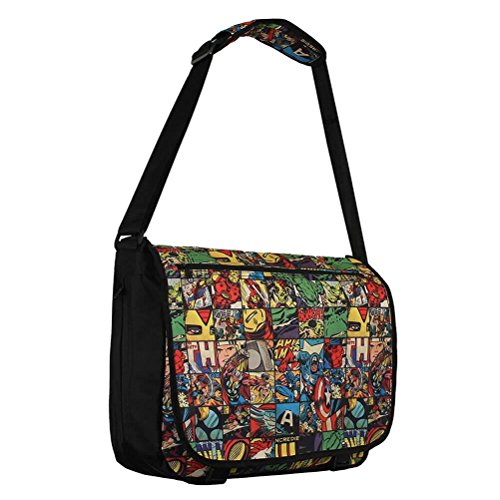 HALF MOON BAY Sac à bandoulière Marvel All Over Comics Umhängetasche, 40 cm, Mehrfarbig (Multicolore)