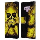 Head Case Designs Licenza Ufficiale Rainer Kalwitz Trinità Giallo Crani Cover in Pelle a Portafoglio Compatibile con Samsung Galaxy Note9 / Note 9