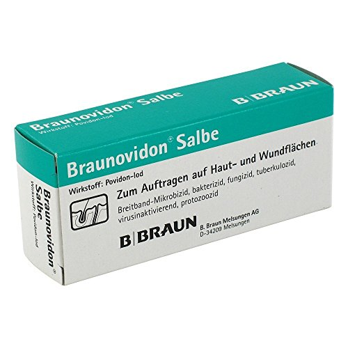 Braunovidon Salbe 10{be6aa90bceb0cec49b3c0e144f125956844f2e4dadc20592df609fdb5af5d38a}, 20 g