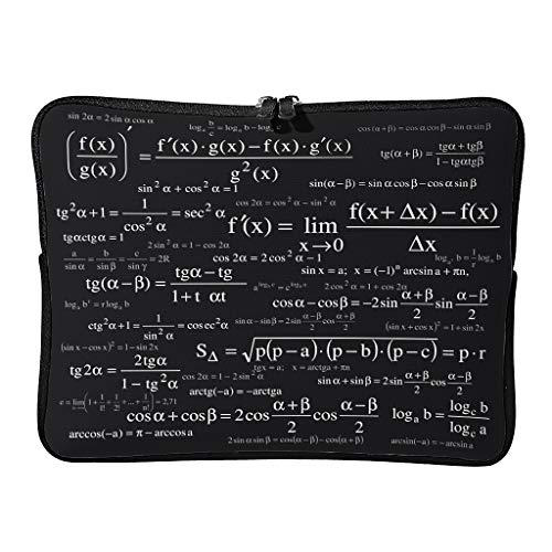 Normal Lustige Mathe-Formeln Laptoptaschen Schlank Multifunktional - Weiße Kreide Tablet-Hüllen Geeignet für Geschäftsreisen White 12 Zoll