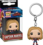 Funko- Keychain Llavero Pocket Pop Capitana Marvel, Multicolor, Talla única (36438)