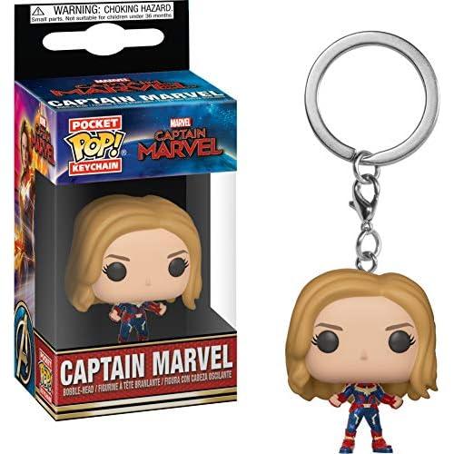 Funko 36438Tasca Portachiavi Captain Marvel: Pop 1, Multi