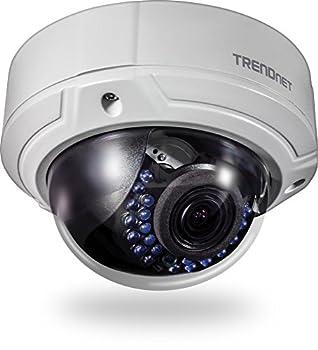 TRENDnet Indoor/Outdoor 2MP 1080p Varifocal PoE IR Dome Network Camera IP66 Rated Housing Adjustable Lens Digital WDR IK10 Vandal Resistant ONVIF IPv6 TV-IP341PI
