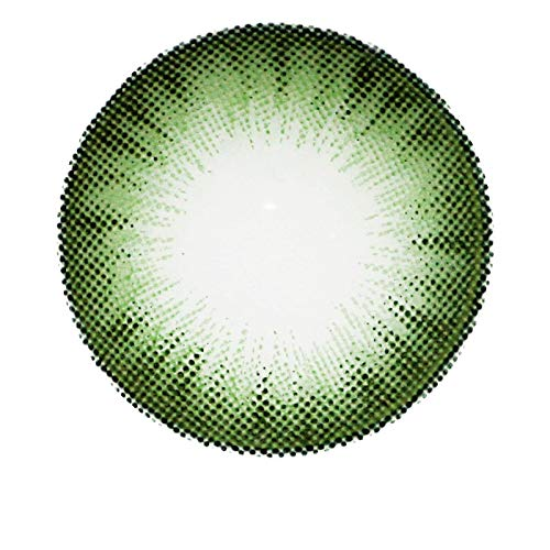 Matlens - Pro Trend Farbige Kontaktlinsen ohne Stärke grün green Extra Bella Big eyes WAN-A83 circle lens 2 Linsen 1 Kontaktlinsenbehälter 1 Pflegemittel 50ml