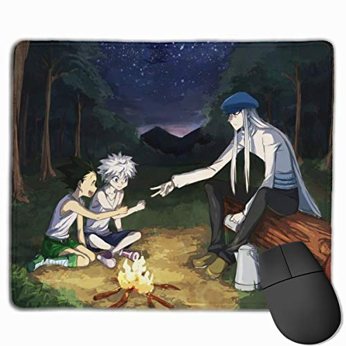 Gaming Mouse Pad with Anti-Fray Cloth Surface, Ergonomic Modern Mouse Mats Designs for Accurate Control, Gon Freecss Killua Zoldyck Kite Anime Hxh Fan Art Desk Pad for Teens Work