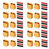 AUTOUTLET XT60 10Pares Connectors de Batería 20Pcs XT60 +20 Bullet Connectors...
