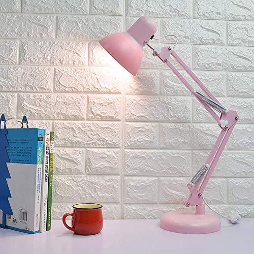 Faltbar Schreibtischlampe, USB Dimmen Mädchen Haushalt Nachttischlampe Kinder Schreibtischlampe Zum Lesen Büro Cafe Beleuchtung Faltbar,Rosa