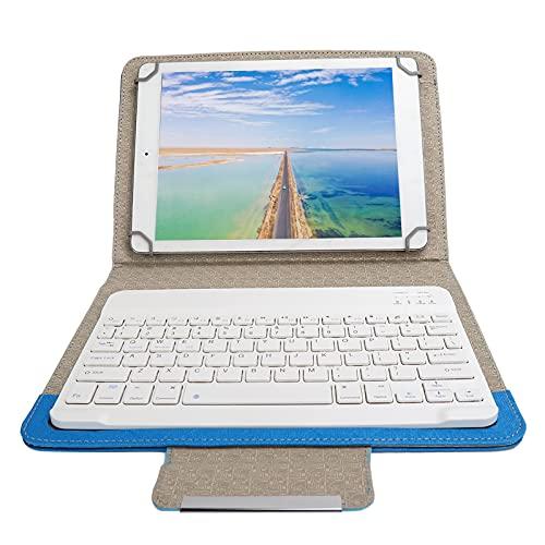 Teclado Inalámbrico Bluetooth para Tableta, Funda Protectora De Cuero Universal A Prueba Golpes A Prueba Golpes para La Mayoría Tabletas 9.7 A 10.1 Pulgadas, Accesorios para Tabletas(Azul)