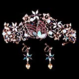 XAFXAL Corona Boda, Vintage Crystal Earrings Set Crown Novedad Fotografía De Moda Nupcial De Bodas Princess Crown para Proms Partes Cumpleaños Chica Womens Kids Tiaras Pelo Joyas