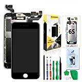 Compatible with iPhone 6S Screen Replacement Black 4.7'',Hkhuibang Pre-Assembled LCD 3D Touch Digitizer Complete Display Full Assembly with OEM Front Camera Proximity Sensor Ear Speaker+Repair Tool