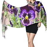 Bufanda de mantón Mujer Chales para, Purple Pro Nature Moda para mujer Chal largo Invierno Cálido Bufanda grande Bufanda de cachemira