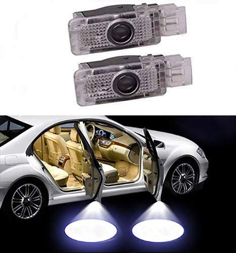 Sunshine Fly 2 Stück Autotür Logo LED Türbeleuchtung KFZ Willkommen Türen Einstiegsbeleuchtung Projektor Door Logo Projektion Lichter 3D