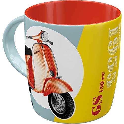 Nostalgic-Art Retro Kaffee-Becher - Vespa - GS 150 Since 1955, Große Lizenz-Tasse mit Vespa-Motiv, Vintage Geschenk-Idee für Vespa Roller Fans, 330 ml