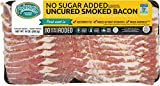 Pederson's Farms No Sugar Added Smoked Bacon (10 Pack) 10oz – Uncured, Whole 30 Approved, Keto Paleo Diet Friendly, No Nitrite Nitrate, Sugar Free Bacon, Made in the US