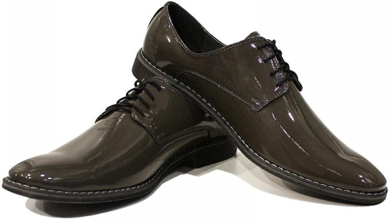 Dark Green Elegant Men's shoes - Handmade colorful Italian Leather Oxfords Unique Lace Up Dress Men's shoes