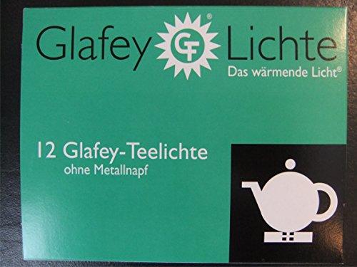 Glafey Teelichter Nr.37, 12er Pack, Brenndauer 8 Stunden, Gastronomie, Teelichte, Wachs