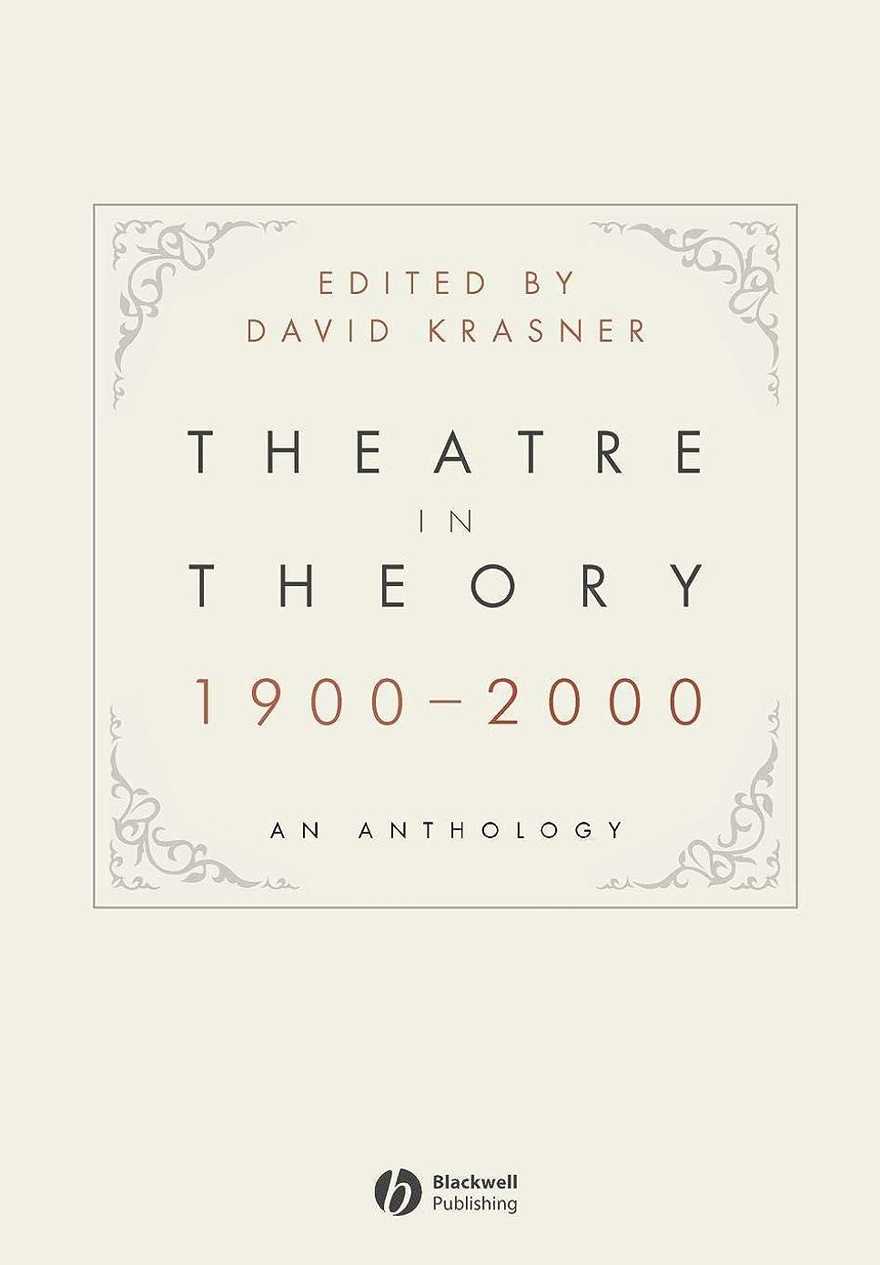 航空機ブラインドキャロラインTheatre in Theory 1900-2000: An Anthology