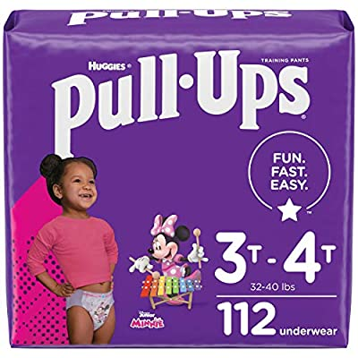 Pull-Ups Girls' Potty Training Pants Training Underwear Size 5, 3T-4T, 112 Ct, One Month Supply by Kimberly-Clark Corp.