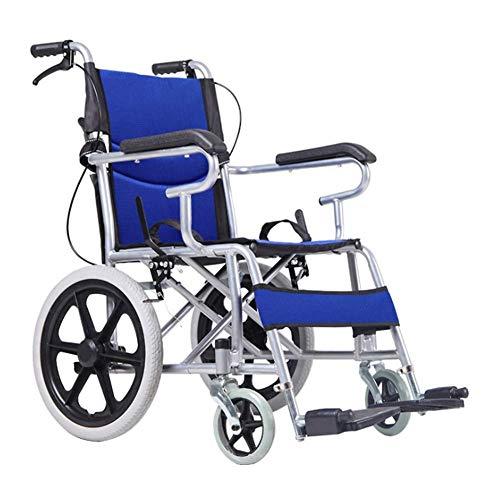 KANJJ-YU Silla médica de rehabilitación, sillas de ruedas, plegable portátil portátil médica conducción médica for adultos de edad avanzada con silla de ruedas silla de ruedas Suministros mujer con di