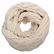 Materials: 100% Pashmina-like Soft Acrylic; Thick chunky warm knit loop circle-scarf for women, men. Many solid colors are available and different ways to wrap the knitted infinity scarf. Decent Pashmina woven cowl is ideal accessory for Chilly winte...