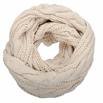 NEOSAN Womens Thick Ribbed Knit Winter Infinity Circle Loop Scarf Twist Khaki