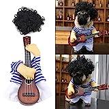 Fdit Costume de Chat Chien Costume Vêtement de Chien Costume drôle Guitariste en Coton...