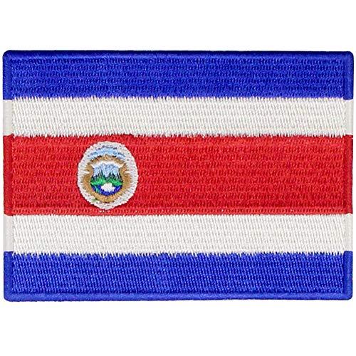 De Republiek Costa Rica Vlag patch Geborduurde Applique Costa Ricaanse Ijzer Op Naaien Op Nationaal Embleem