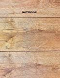 Notebook, Logbook 8.5'x11', 100 White Pages with Lined. Wood Grain Color (4/7) with Glossy Cover.: US Letter Size, Natural Designed, Easy to use with ... Student, Officer, Family and Special Others.