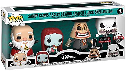 The Nightmare Before Christmas Pesadilla Antes De Navidad Sandy Claws/Sally Sewing/Mayor/Jack Skellington - 4 Pack Figuren Unisex ¡Funko Pop! Standard