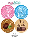 Belly Doodles 40 Weekly Pregnancy Stickers Junk Food 3.94inch