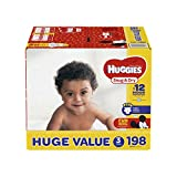 HUGGIES Snug & Dry Diapers, Size 3, 198 Count, HUGE PACK (Packaging May Vary)