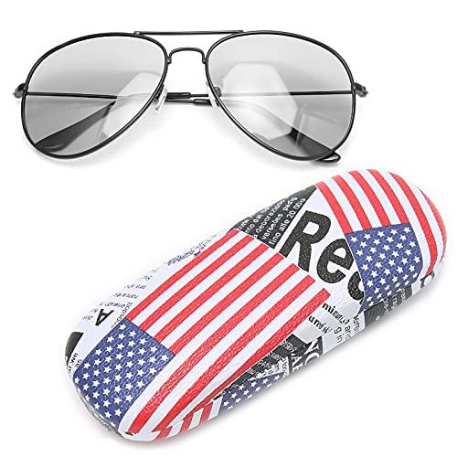 TMISHION Gafas de Lectura Gafas de Sol Hombres Mujeres teñidas protección Anti UV, UV400 Cambio de Color Gafas de Lentes polarizadas Anti UV Gafas Unisex de Moda(Marco Negro)
