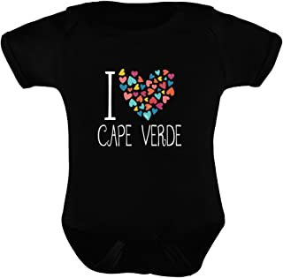 Idakoos I love Cape Verde colorful hearts - Paises - Enterizo de bebe