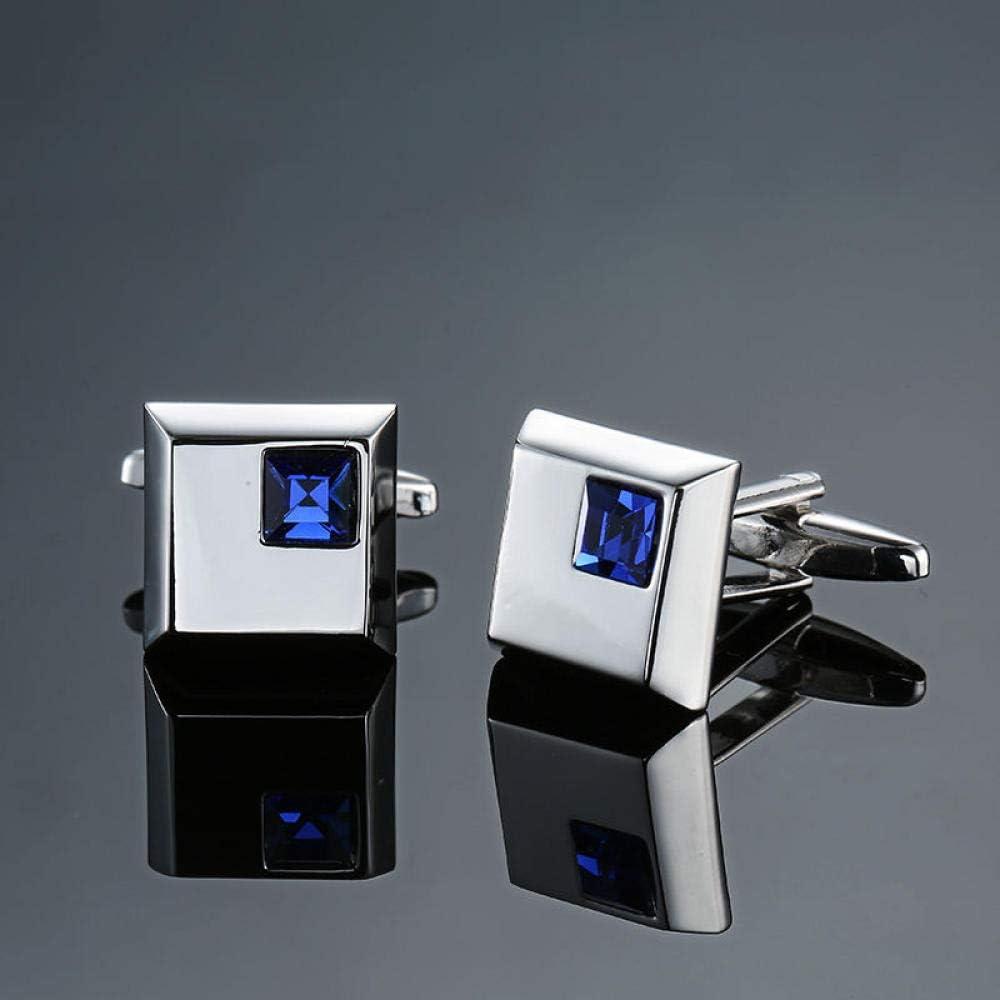 WOYAO Mens Cufflinks Accessories Cufflinks and Studs High-End Men S Jewelry Luxury Design Level Hourglass Blue Crystal Cufflinks Men S French Shirt Cufflinks-D