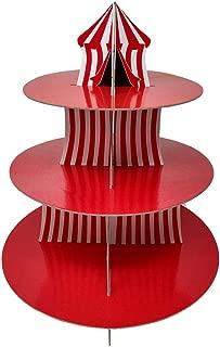 Circus Cupcake Stand & Pick Kit, Carnival Party Supplies, Big Top Decorations, Birthdays, Cake Decorations, Kids Birthdays, 3 Tier Cardboard