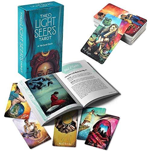 Qianghua Light Seer'S Tarot, AnfäNger Guidebook (Englisch) 78 Karten Kartenspiel Deck Meditation Vorhersage ZuküNftigen