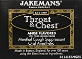 Jakeman's Anise Throat & Chest Lozenge Box, 24 counts