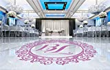 Diseño Personalizado Novia Novio Nombre Boda Monograma Ceremonia Fiesta Pista de baile Etiqueta de la pared Arte Calcomanía Dormitorio Sala de estar Salón Decoración para el hogar Mural