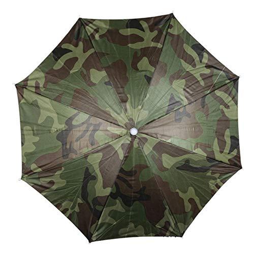 Soaying Sombrero Paraguas de Lluvia PortáTil Camuflaje Plegable Al Aire Libre Parasol...