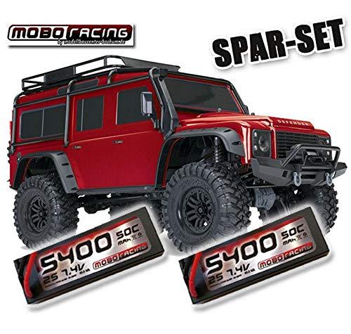 Traxxas 82056-4 TRX-4 Land Rover Crawler 2,4GHz rot + 2X 5400mAh 2S Lipo TRX4