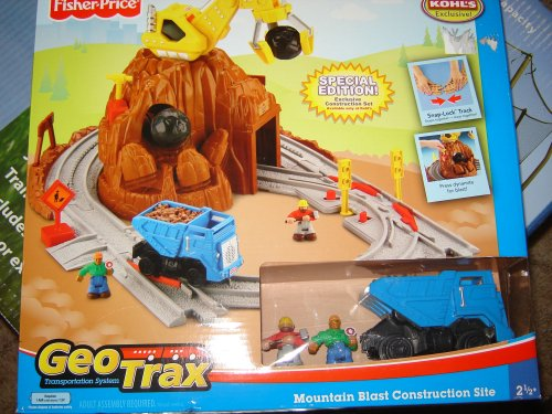 Geotrax Mountain Blast Construction Site with Bonus Figures and Dump Truck