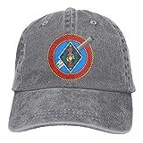 2 ° Batallón 7 ° Marines Gorras de béisbol Ajustables Sombreros de Mezclilla Sombrero de Vaquero Retro Gorra para Hombres Mujeres Deporte al Aire Libre