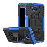 TiHen Cover ASUS ZenFone Live Plus ZB553KL,Custodia 360 Gradi + Pellicola Vetro temperato [2 Pezzi] Case Cover custodie Cellulare Stilosa Protettiva Bumper per ASUS ZenFone Live Plus ZB553KL- Blu