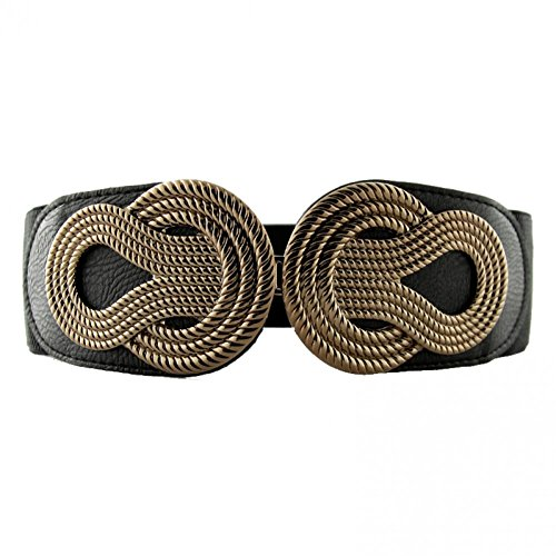 VOCHIC Womens Wide Elastic Waist Belt for Dresses Ladies Stretch Belts with Interlock Buckle