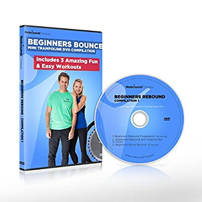 Beginners Bounce Mini Trampoline Exercise DVD Compilation Includes 3 Amazing Fun & Easy Rebounding Fitness Workouts to Help You Lose Weight & Tone Up! by Maximus Pro & Fit Bounce Pro
