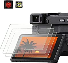PCTC Tempered Glass LCD Screen Protector Compatible for Sony alpha A6600 A6100 A6400 A6000 A6300 A5000 Nex-7 NEX-6 NEX-5 NEX-6 NEX-6L NEX-3N, 0.3mm 9H Hardness Tempered Glass Flim Anti-Scrach Anti-Fingerprint, 2* Hot Shoe Cap Cover (Ladybug & bee)