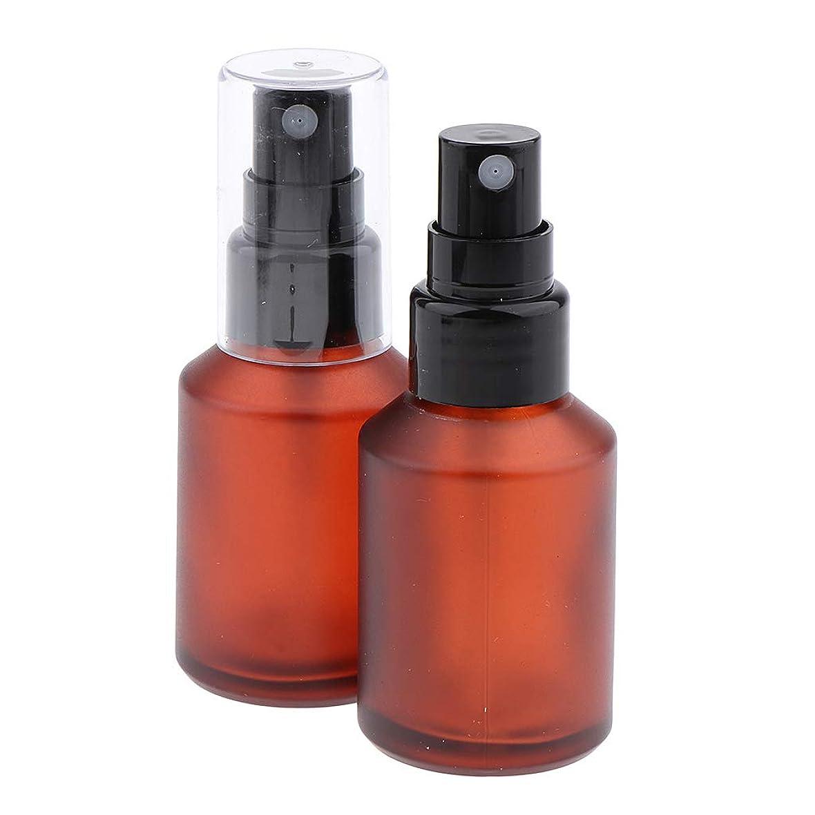 一晩あざパテB Blesiya 2個 香水ボトル ポンプスプレーボトル コスメ用詰替え容器 ガラスアトマイザー 4サイズ選べ - 30ml