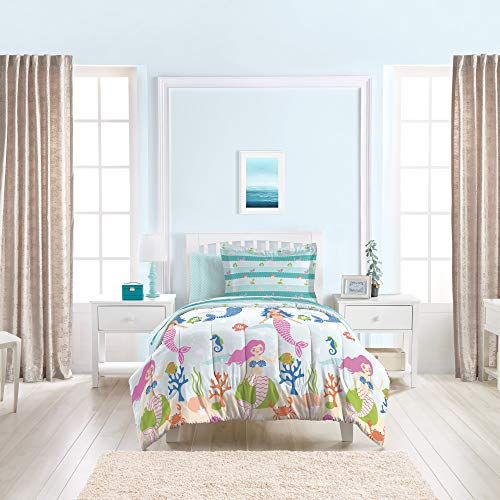 7pcs Kids Mermaid Easy-Wash Bed Set