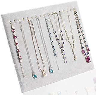 TOOGOO Necklace Pendant Display Stand Women Jewelry Organizer Holder Storage Case Bracelet Display Rack Gray