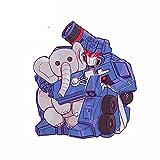 A/X 13 cm 11,4 cm para Transformador Elefante muñeca RV Impermeable Personalidad Coche Pegatinas Parachoques portátil